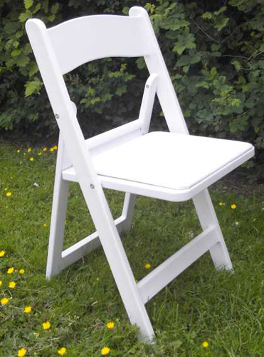 White Resin Chair rental Beaumont, Texas